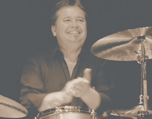 Jimmy Boudreau playing drums